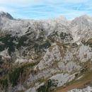 Razgled iz vrha na Debeli vrh, Vrh Hribaric, Škednjovec, Adama, Evo in Prevalski Stog