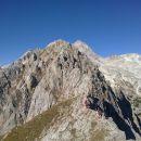 Razgled na vrh Vernarja in njegov celotni greben