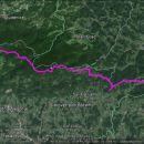 Celotna trasa-1350m vzpona, 1615m spusta,dolžina 23,4km.