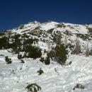 Razgled s poti na nadaljnjo pot in celotno južno pobočje Viševnika