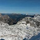 Razgled z vrha na Luknjo peč, Kepo, Dovško Babo in Debelo peč (od leve proti desni)