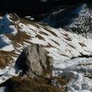 Razgled z vrha na celotno južno pobočje Viševnika