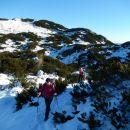 Pot na Vrh Korena in razgled na Kompotelo
