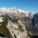 Razgled z vrha na Grintovec, Skuto, Rinke, Tursko goro, Brano in Kamniško sedlo