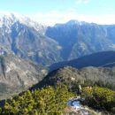 Pot na Cjanovco ter razgled na Kočno, Grintovec, Kalško goro in greben