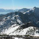 Razgled z vrha na Bohinjske gore, Lipanski vrh, Viševnik in Draška vrhova