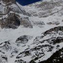 Pogled nazaj proti smeri vzpona po Pripravniški grapi