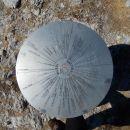 Smerna plošča na vrhu Gladkega vrha Ratitovca