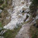 Nekaj korakov pred drugim slapom.