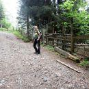 Pot proti planini Korošici iz izhodišča Vranček
