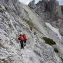 Prečenje pobočij pod Malim Draškim vrhom proti Velikemu Draškemu vrhu