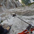 Zavarovana plezalna pot na Veliko Babo