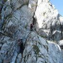 Vstop v zavarovano plezalno pot na Stol