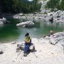 Prvo od trriglavskih jezer - Črno.