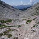 Pot za Kopico, spust po tej dolini.