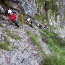 Zavarovana plezalna pot na Plešivec