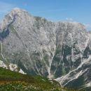 Razgled z vrha na Mangart