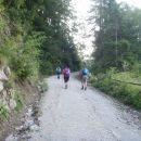 Cesta na stari Ljubelj, bivši mejni prehod.