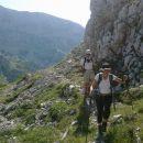 Vzpon proti severni steni Koštrunovca