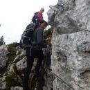 Zavarovani del poti z Lipanskega vrha na Mrežce