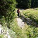 Prihod na planino Za Črno goro.