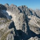 Razgled iz vrha na Škrnatarico, Dovški k., Škrlatico,Veliki O., Široko p., Ponce,Špik