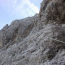 Vzpon čez drugi skalni skok (III+ stopnja težavnosti plezanja)