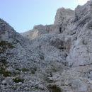 Pot nad drugim skalnim skokom proti Amfiteatru