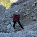 Vzpon proti Amfiteatru čez skalne pragove (I. stopnja težavnosti plezanja)