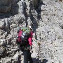 Vzpon čez gredino na Široko peč (I.-II. stopnja težavnosti plezanja)