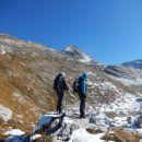 Pot na Bogatin in pogled proti vrhu