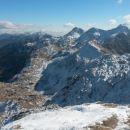 Razgled iz vrha na Bohinjske gore