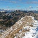 Razgled iz vrha na Kaninsko pogorje in Montaževo skupino