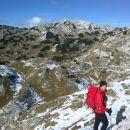 Pot nazaj proti Bogatinskemu sedlu in razgled na Lanževico