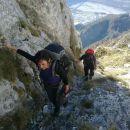 Zavarovani del poti na Monte Amariano