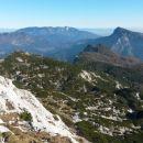 Razgled iz vrha na Olševo, Moličko peč, Peco, Križevnik, Raduho in Uršljo goro