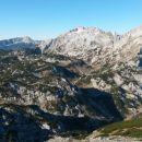 Razgled iz vrha na Krvavec, Kalški greben, Lučki Dedec, Planjavo in Ojstrico