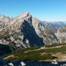 Razgled iz vrha na Planjavo, Ojstrico, Matkovo kopo in Krofičko (od leve proti desni)