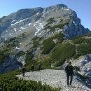 Vzpon na Moličko peč ter razgled nazaj na Veliki vrh (Veža) in Veliko Zelenico
