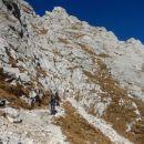 Vstop v zavarovano plezalno pot