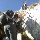 Zavarovani plezalni del poti
