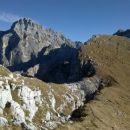 Pogled nazaj na Montaž in našo prehojeno pot od grebena Viene