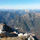 Razgled iz vrha na Karnijske alpe