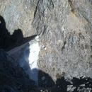 Pogled na škrbino med vrhom in predvrhom Dovškega križa