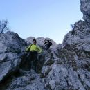 Zavarovala plezalna pot čez Žrelo