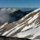 Razgled od koče na Kepo, Vajnež, Struško in Avstrijske Alpe v daljavi