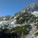 Razgled iz poti na Srenjski preval in Mali Draški vrh