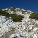 Razgled iz Srenjskega prevala na pobočje Malega Draškega vrha