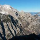 Razgled iz vrha na Rjavino, Luknjo peč, Kepo in dolino Krme