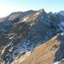 Razgled iz vrha na Tosc, Veliki Draški vrh, Mišelj vrh, Vernar in Kanjavec